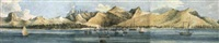 a panoramic view of mauritius shipping, off port louis by augustus earle