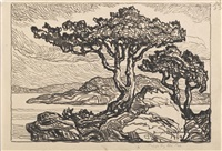 pines by the sea by birger sandzen