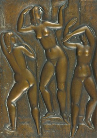 drei nackte weibliche figuren by emy roeder