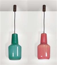 coppia di lampade da sospensione (pair) by massimo vignelli
