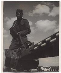 république tchécoslovaque, manoeuvres militaires (various sizes; 5 works) by vaclav jiru
