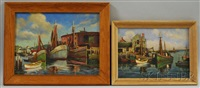 views of cape ann: gloucester wharves and motif #1 (2 works) by arthur e. ward