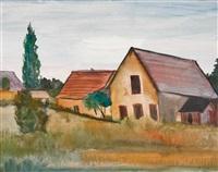 landschaft mit häusern by franz lerch