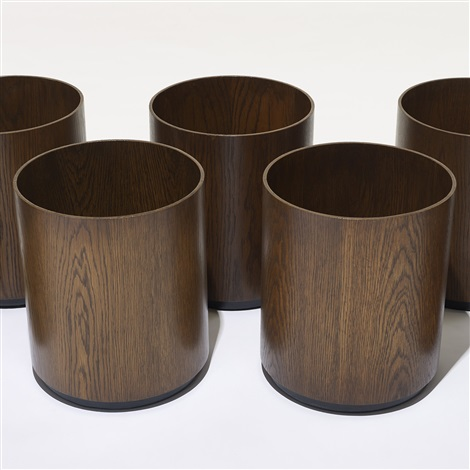 wastebaskets set of 7 by jens risom