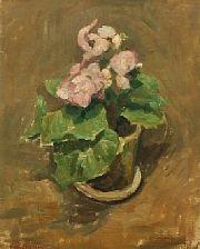 still life with flower pot by carl fischer