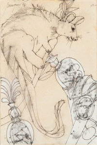 possum with men quarrelling by robert litchfield juniper