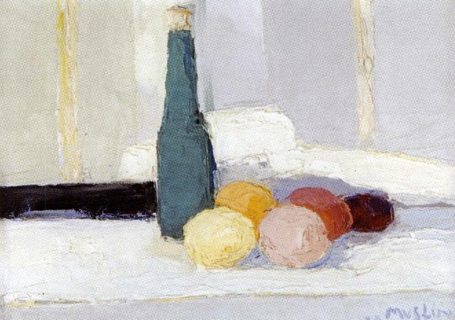 bouteille et fruits by joseph muslin