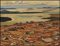 plateau overlooking hornby bay, great bear lake (looking from port radium) by alexander young jackson