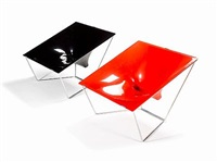 pair of contour chairs by david colwell