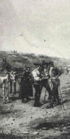 bandeleros vendiendo un burro by emilio millan ferriz