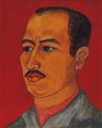 portrait of josé chávéz morado by olga costa