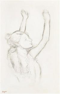 danseuse, les bras levés by edgar degas