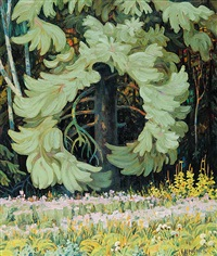 untitled - forest interior by ernest lindner