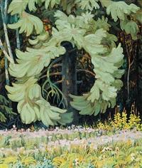 untitled - forest interior by ernest lindner