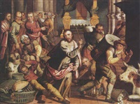 christ driving the moneychangers from the temple by pieter pietersz. aertsen