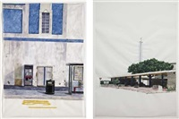 untitled (bingohalle brighton) (+ untitled (protestant centre, royan); 2 works) by ina weber