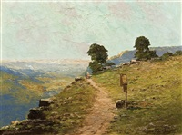 road over precipice by georg arnold