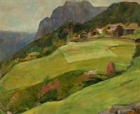 landskap fra kviteseid by erik theodor werenskiold