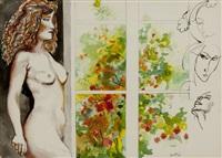 nudo alla finestra by renato guttuso