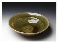 an oribe flat bowl by kitaoji rosanjin