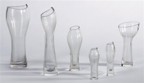 ensemble de cinq vases modèle foals foot set of 5 by tapio wirkkala