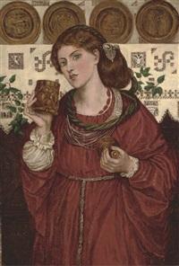 the loving cup (after dante gabriel rossetti) by henry treffry dunn