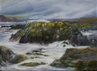 waters in turmoil, ballintoy, co antrim by pauline merry