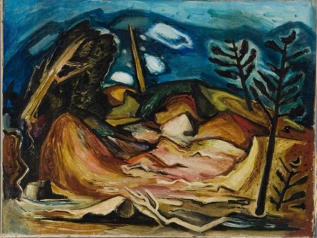 landscape scene by hale aspacio woodruff