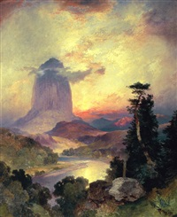 devil's tower by thomas moran
