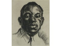 bust portrait of a black man by theodore major