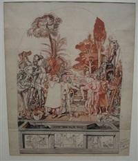 joseph vendu par ses frères (sketch) by alfred courmes