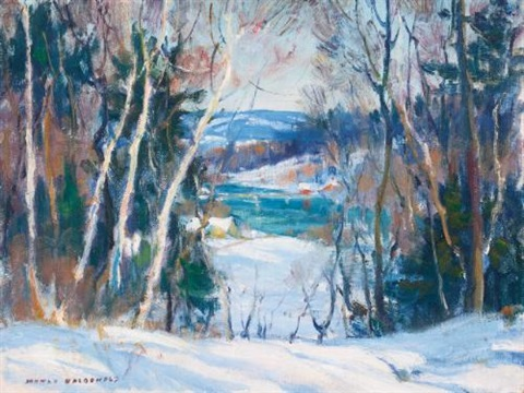 the mill stream and a glimpse of the water through the trees 2 works by manly edward macdonald