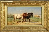 les vaches by johannes hubertus leonardus de haas