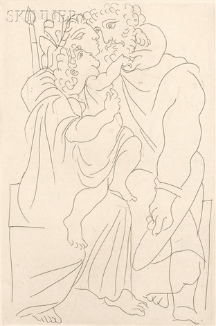 couple et enfant from lysistrata by pablo picasso