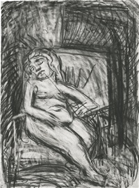 sally (double-sided) by leon kossoff