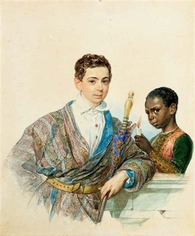 portrait of anatole demidoff prince de san donato by karl pavlovich bryullov