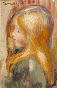 tete d'enfant by pierre-auguste renoir