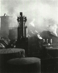 a steel mill never sleeps; rhythmic cylinders;  rail and water; water beetle; a cloud by day; glass; a glass by doris martha weber