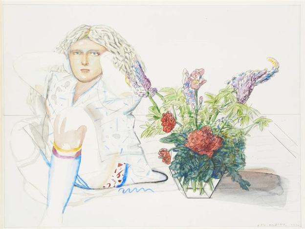 jeune femme au vase by pat andrea