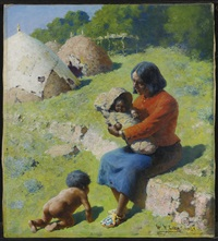 apache mother and children by william robinson leigh