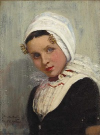 a dutch girl in national costume by james hamilton mackenzie