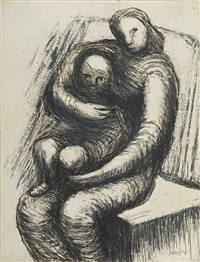 mother & child xi by henry moore