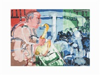 bopping at birdland (stomp time) by romare bearden