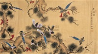 九绶图 (flowers and birds) by heng shao