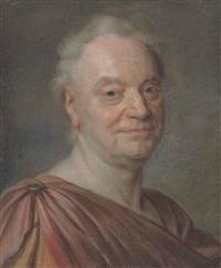 portrait de claude-prosper jolyot de crébillon by maurice quentin de la tour