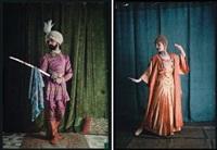 maharaja et danseuse balinaise (2 works) by edmond goldschmidt