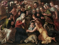 die anbetung der hirten by frans floris the elder