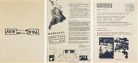 arte-vida, acción tv, proyecto a través de latinoamérica, the last ten minutes. argentina/ brasil/usa, acción comercio 64, 4 elementos... (10 works) by antoni muntadas