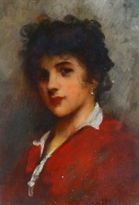 girl with the pearl earrings by sir samuel luke fildes