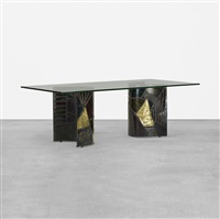 dining table, model pe 24 by paul evans